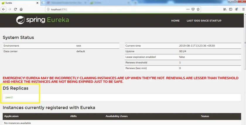 Eureka server DS replica