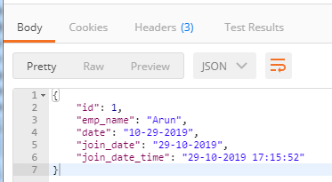customized json format 2