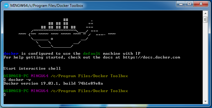Install docker on windows 7