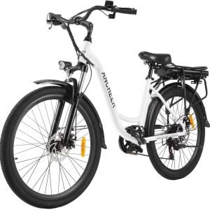 ANCHEER 26 hüvelykes városi e-kerékpár 250 W (fehér)