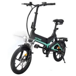 HITWAY - Elektromos kerékpár magnéziumötvözetből-fekete