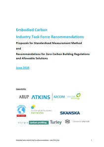 Embodied Carbon Industry Task Force Recommendations