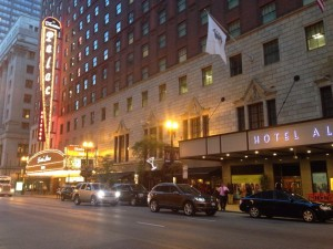 The Hotel Allegro in downtown Chicago
