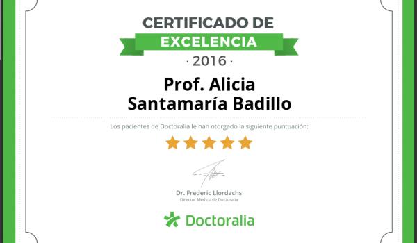 Certificado Excelencia Doctoralia 2016