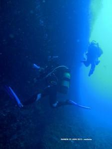 Chantal lors de sa dernière plongée