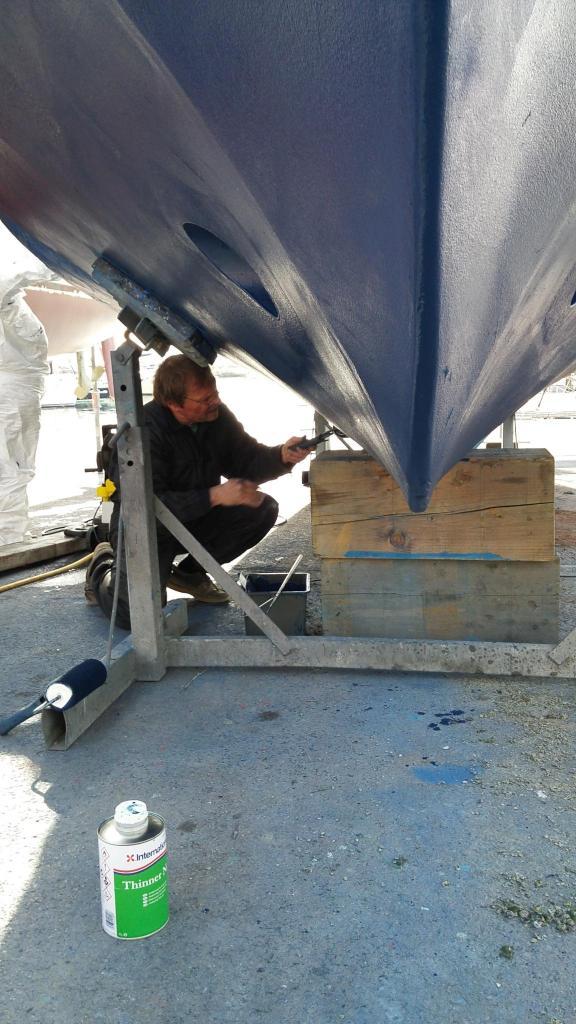 Travaux bateau 2017 : vue sous-marine !
