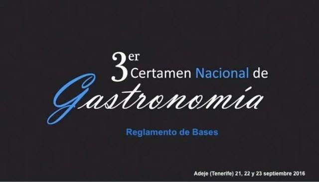 III Certamen Nacional de Gastronomía 2016
