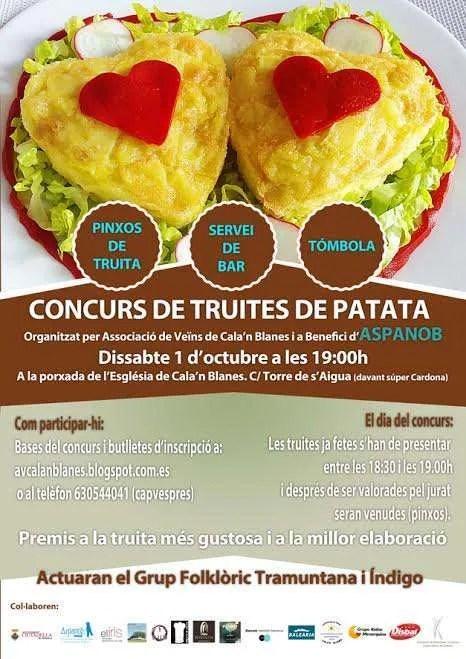 Concurso de tortilla de patatas a favor de Aspanob