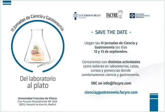 III Jornadas de ciencia y gastronomía - FACYRE