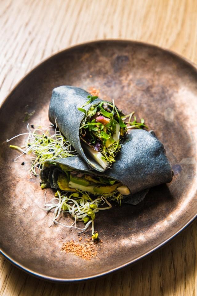 Creps de carbon vegetal [Vegano]