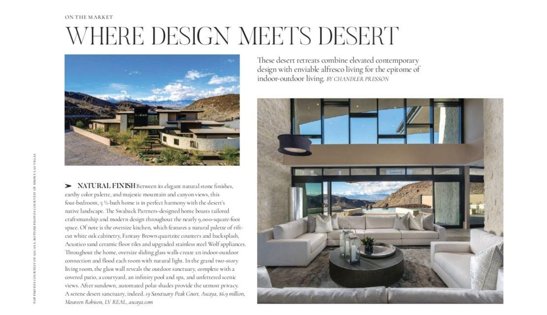 Where Design Meets Desert