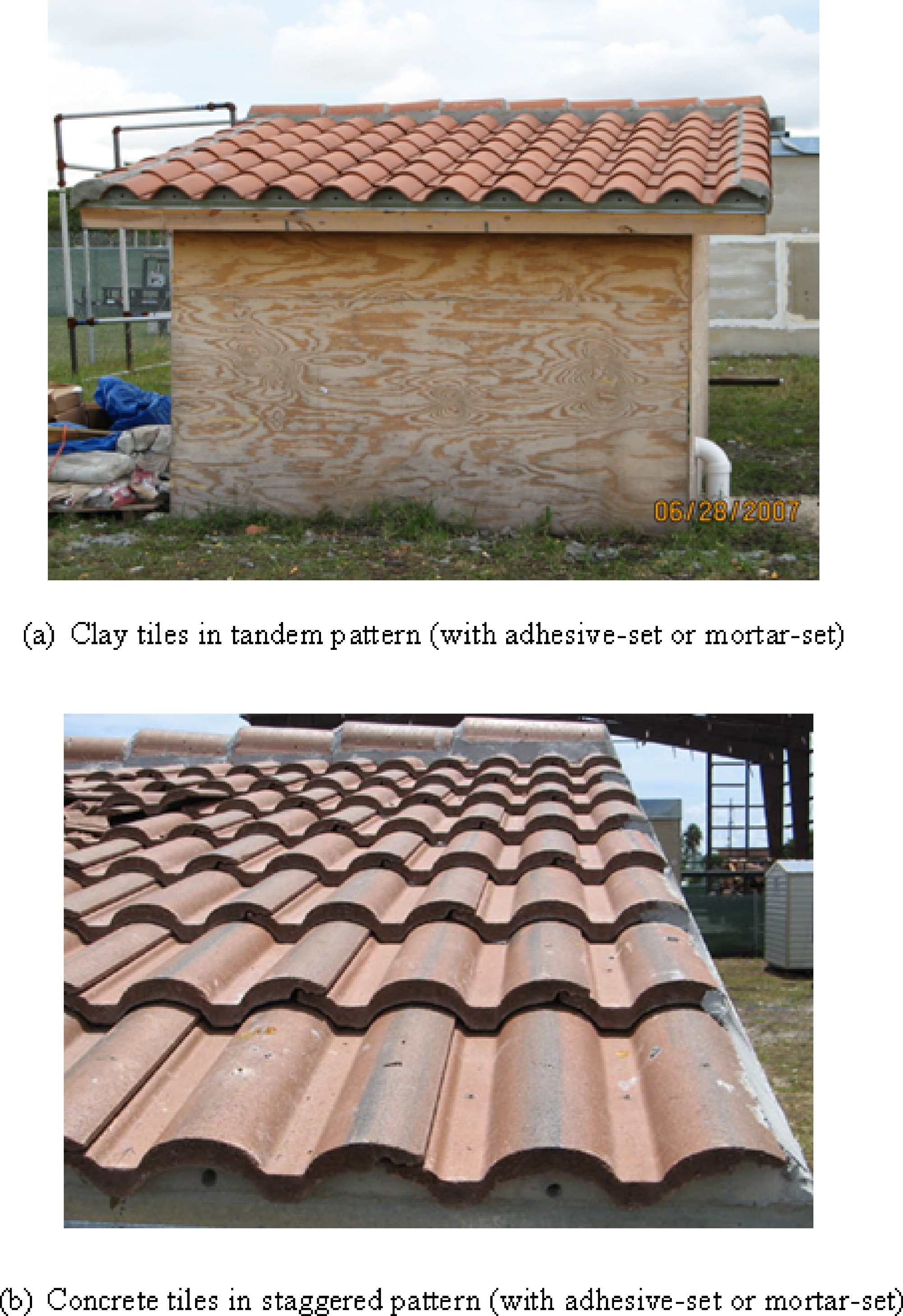 performance of roof tiles under