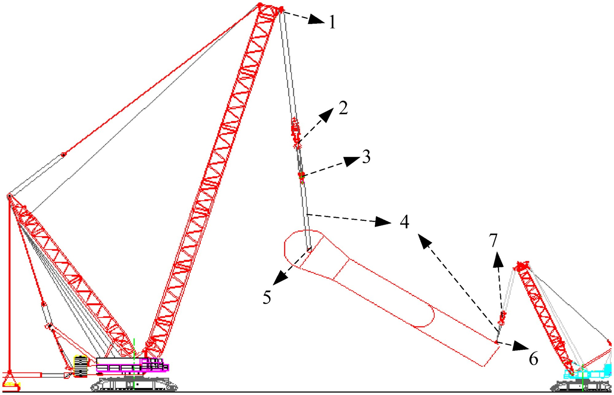 hight resolution of statics based simulation approach for two crane lift journal of construction engineering and management vol 138 no 10