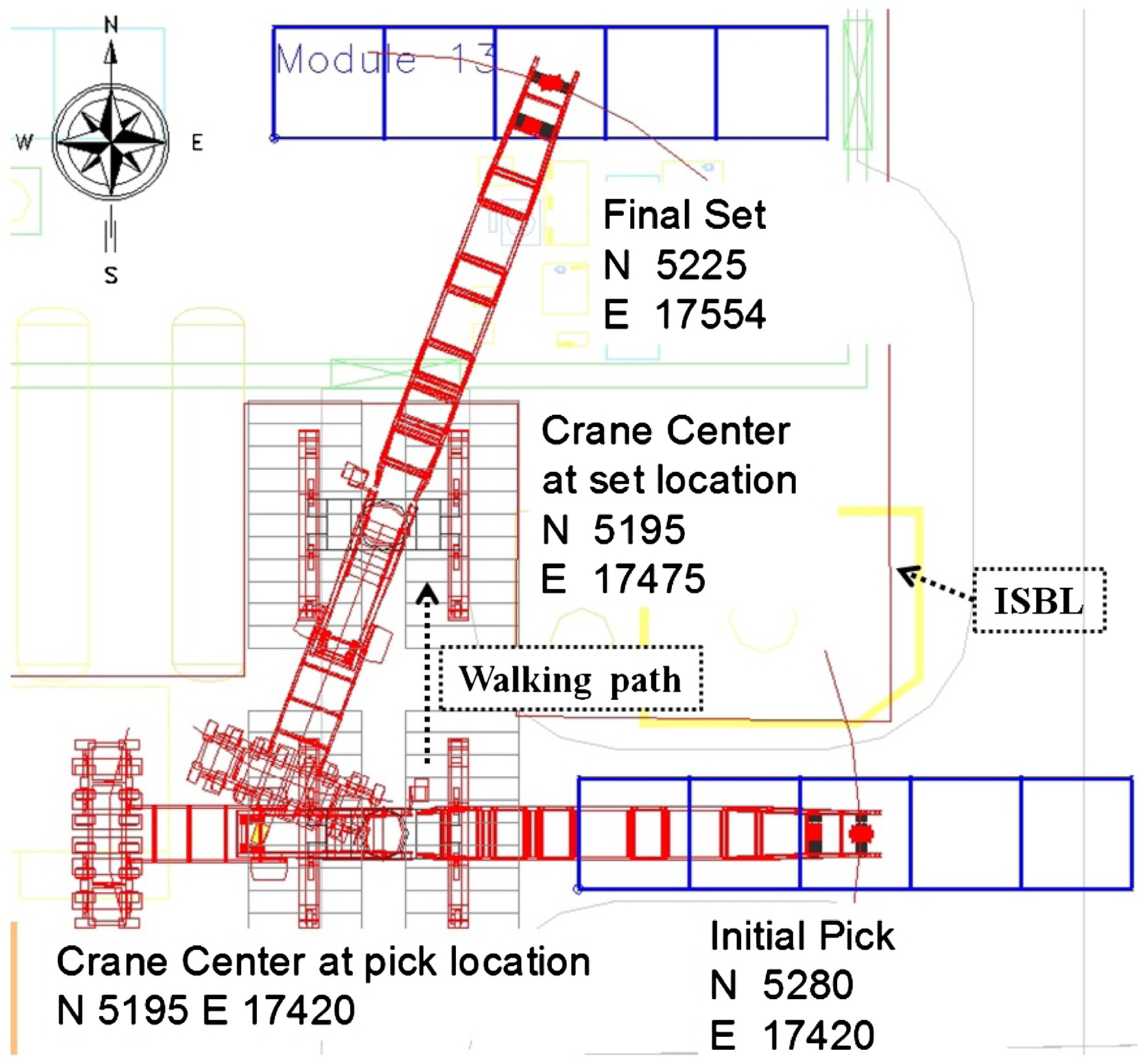 hight resolution of algorithm for mobile crane walking path planning in congested industrial plants journal of construction engineering and management vol 141 no 2