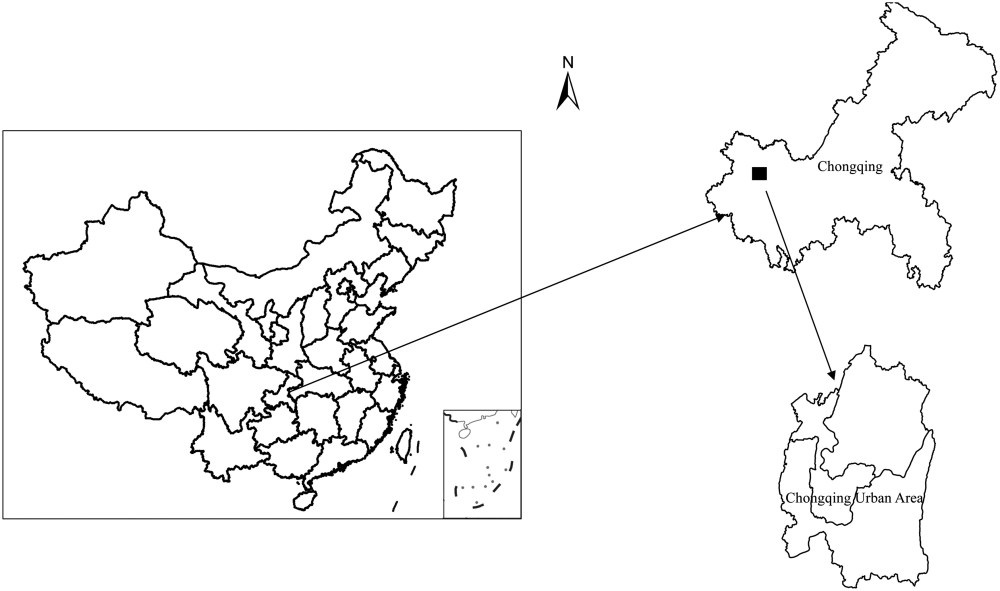 medium resolution of gradient analysis of urban construction land expansion in the chongqing urban area of china journal of urban planning and development vol 141 no 1