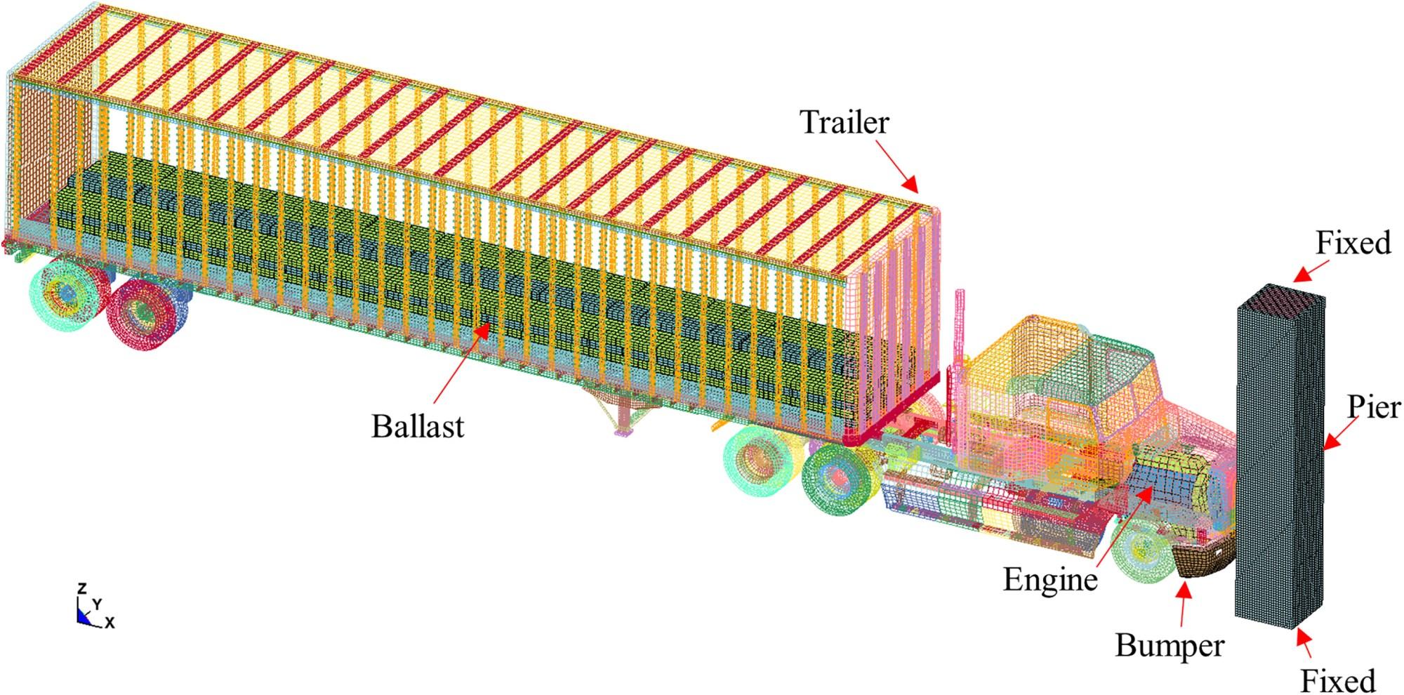 hight resolution of heavy truck collision with bridge piers computational simulation study journal of bridge engineering vol 24 no 6
