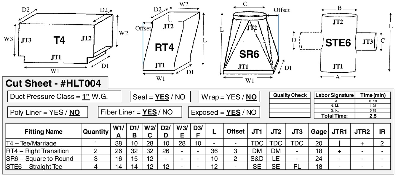 Performance Measurement of Building Sheet-Metal Ductwork ...