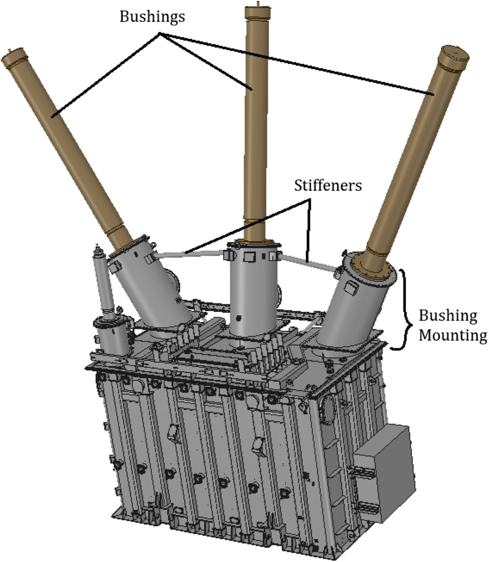 medium resolution of predicting power transformer bushings seismic vulnerability mounting stiffness and coupling journal of performance of constructed facilities vol 33