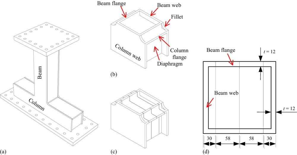 medium resolution of seismic performance of compact beam column connections with welding defects in steel bridge piers journal of bridge engineering vol 22 no 4