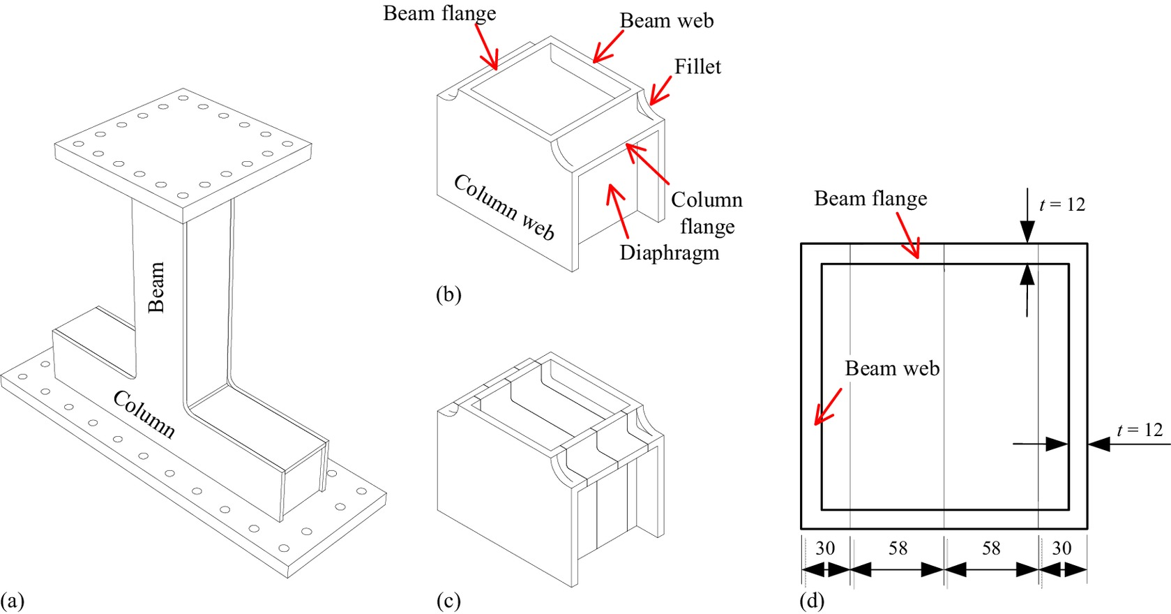 hight resolution of seismic performance of compact beam column connections with welding defects in steel bridge piers journal of bridge engineering vol 22 no 4
