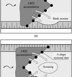 design of sediment traps with open check dams ii woody debris journal of hydraulic engineering vol 142 no 2 [ 1850 x 3150 Pixel ]