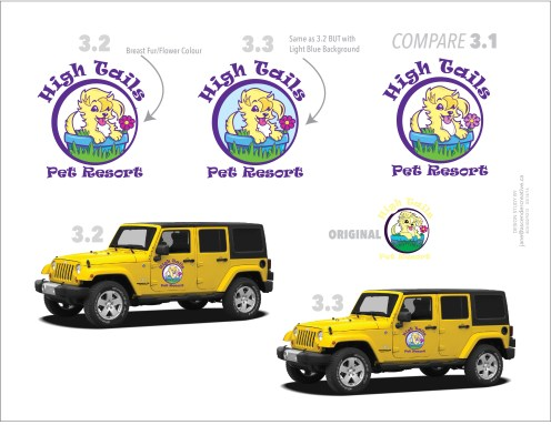 High Tails Pet Resort Illustration redesigned by Ascender Creative. Original logo was done by another company.