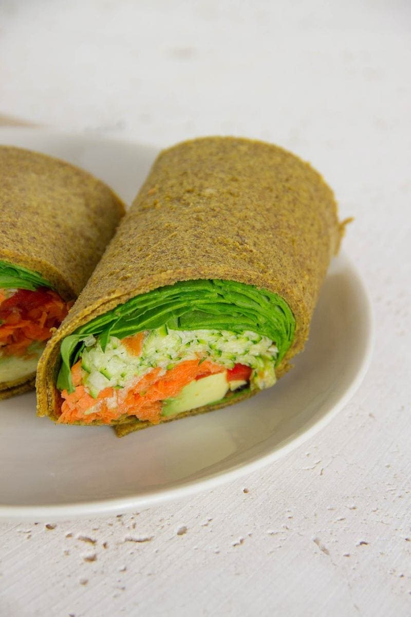 Easy Raw Pumpkin and Onion Wraps  Ascension Kitchen