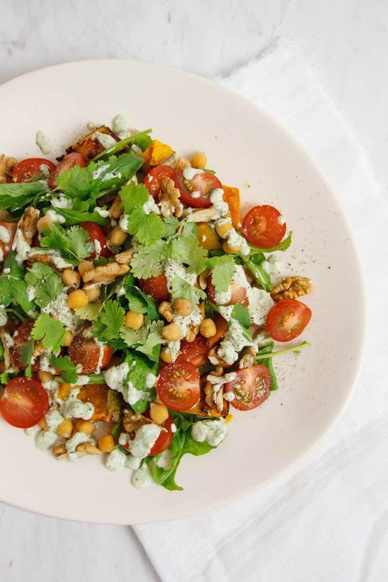 Pumpkin-chickpea-rocket-salad