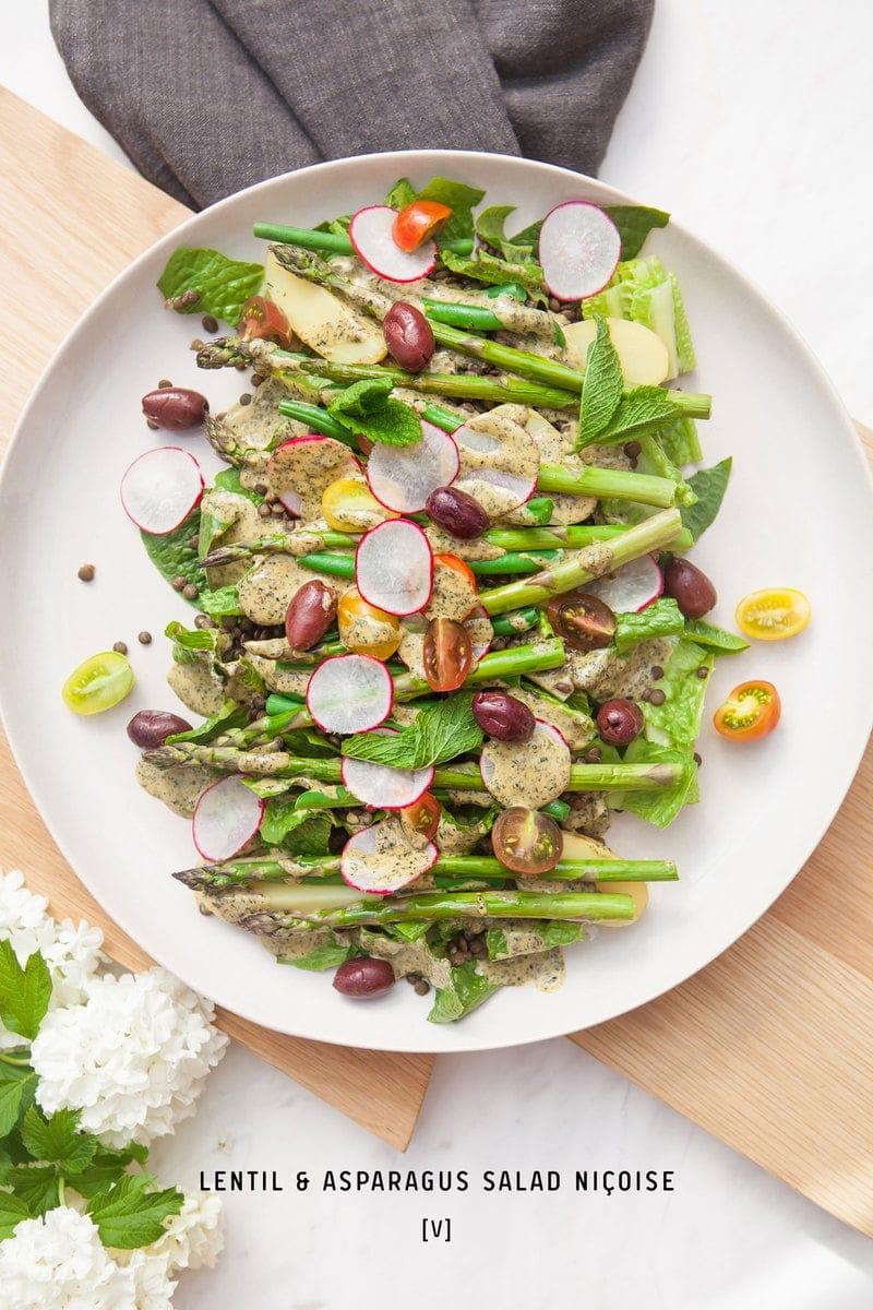 Lentil Asparagus Salad Nicoise