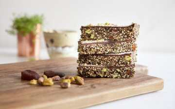 Apricot Chocolate Popped Quinoa Bars
