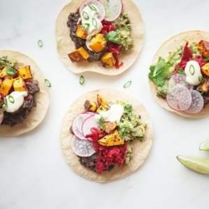 Healthy Butternut Squash Black Bean Tacos