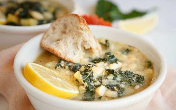 Lemon White Bean Kale Soup