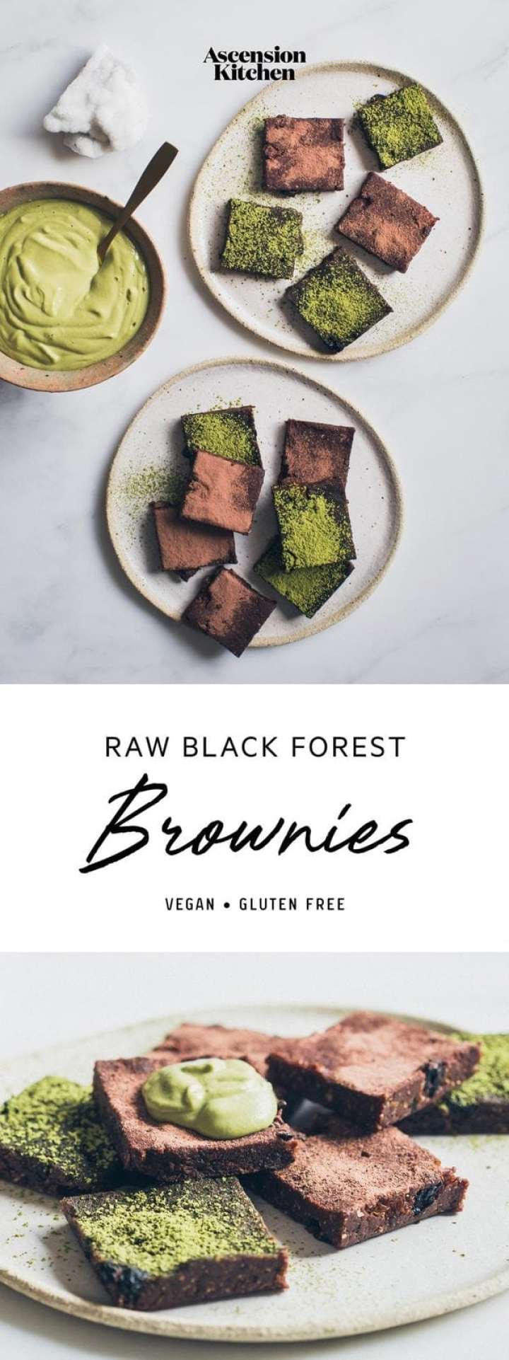Raw Black Forest Brownies – fudgy vegan brownies, gluten free and totally easy to make. #rawbrownies #rawbrowniesrecipe #rawbrowniesvegan #blackforestbrownies #blackforestbrownieseasy #healthybrownies #glutenfreebrownies #veganbrownies #AscensionKitchen // Pin to your own inspiration board! //