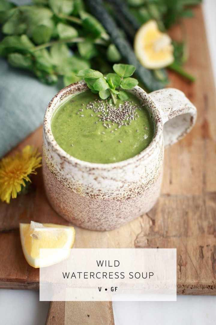 This healthy Watercress Soup is packed full of greens that support the liver. Dairy free, vegan. #watercresssoup #watercresssouprecipe #watercresssouphealthy #watercresssoupvegan #easywatercresssoup #detoxsoup #springsoup #AscensionKitchen // Pin to your own inspiration board! //