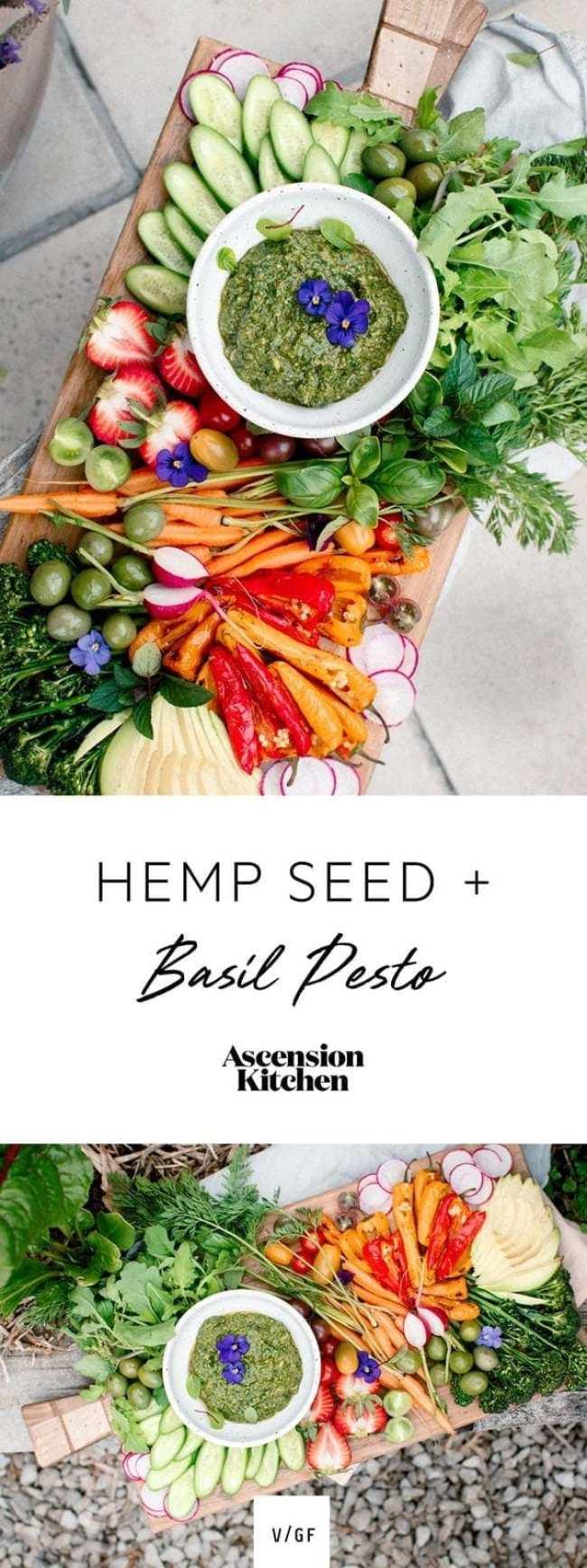 Vegan Hemp Basil Pesto Recipe