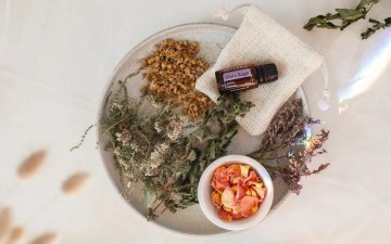 Ingredients for a herbal bath for pms