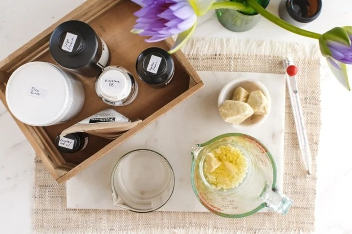 Ingredients used for DIY Face Cream