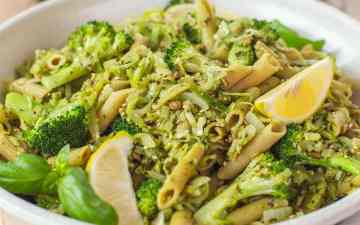 Broccoli Pasta on the dinner table