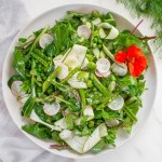 Vibrant Asparagus Salad in a bowl