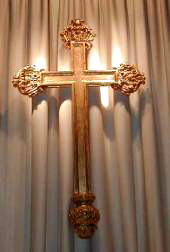 Cross at side altar