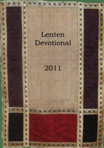 Lenten Devotional 2011