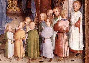 Presentation of Christ in the Temple (detail) by Stefan Lochner (circa 1400/1410–1451)
