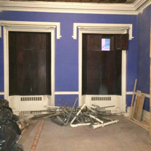 renovations of the rectory parlor floor