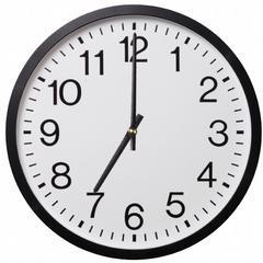 Clock: 7 o'clock