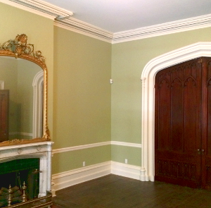 first floor of rectory, after repairs