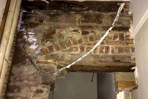 rectory interior before repairs