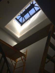 a repaired skylight
