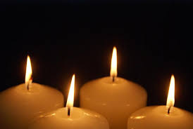 four lit candles