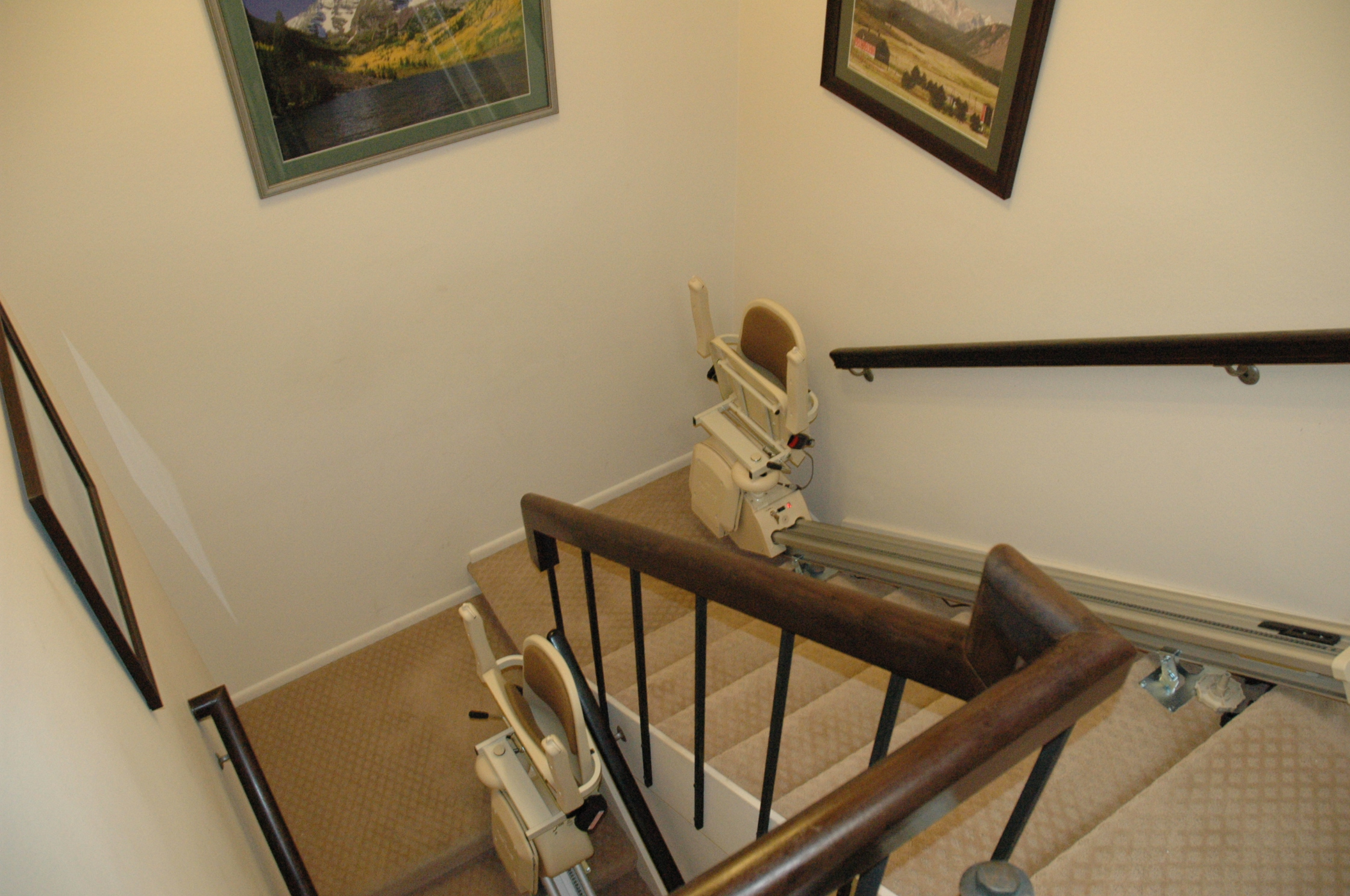 Chair Lift For Stairs Cost Custom Stairlift Vs Two Straight Stairlifts Ascent Mobility