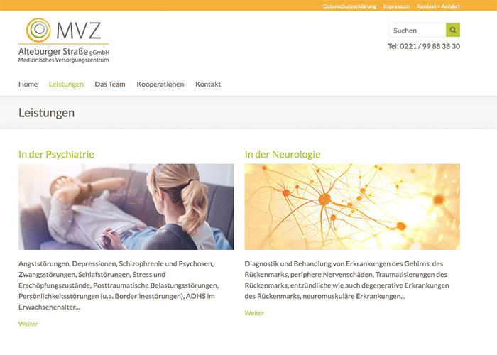 Homepage MVZ Leistungen